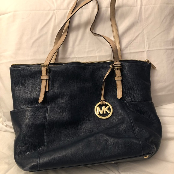 Michael Kors Handbags - Navy Blue Michael Kors Shoulder Bag